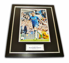 Fernando Torres SIGNED Framed Photo Chelsea Genuine AUTOGRAPH Display + COA