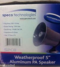 Brand New Speco Spc-8 5 inch 15 Watt All Weatherproof PA Speaker