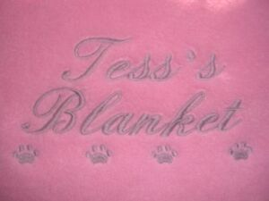 A PERSONALISED DOG/CAT BLANKET AVAILABLE IN 9 COLOURS