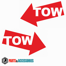 Tow opposé (paire) rally motorsport jdm racing pare-chocs voiture stickers vinyl decals