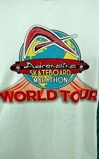 Adrenalina Skateboard Marathon World Tour 2011 White Large Shirt L