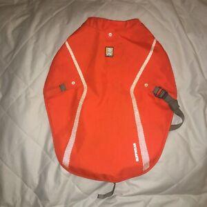 Ruff wear dog jacket small/Medium reflective safety orange shell 21-1841