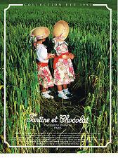 PUBLICITE ADVERTISING 064  1992  TARTINE & CHOCOLAT vetements enfants  été