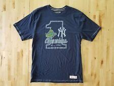 New York Yankees 1996 World Series Champions Navy Mens T-Shirt Sz Large Mitchell