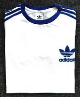 Adidas Originals Mens Trefoil California Tees Crew Neck T Shirt White Royal Blue