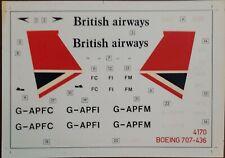 1/144 - Airfix Decal - British Airways - Boeing B707-400 - 4170 #1