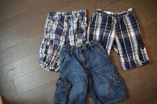 Boys Size 10 Medium Shorts Lot of 3 Denim Plaid Summer Clothes Old Navy