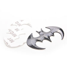 Carbon Fiber Shaped Batman Emblem Badge Sticker Decal Car Motorcycle Logo FO
