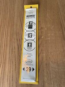Hawid Mounts - 25 Strips - 29 x 210mm - Black - Ref: 1029