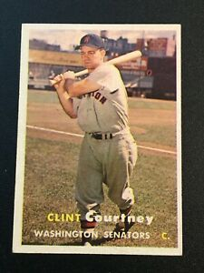 F64379  1957 Topps #51 Clint Courtney SENATORS