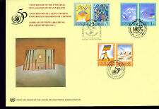 1998 Large Combo Un Fdc - All 3 Offices on One Cover - Human Rights
