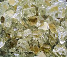"""10 Lbs ~1/2"""" GOLD REFLECTIVE FIREGLASS Fireplace FirePit Glass Rocks Crystals"""