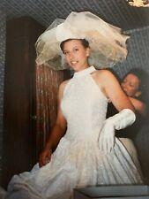 robe de mariée,  taille 40  , soie sauvage , ( sur la photo mise à l'envers, )