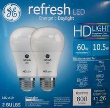 2 Ge refresh Hd Light 60-Watt Frosted White A19 Leds w/Medium Base - 800 Lumens
