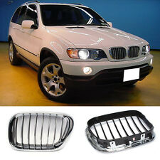 For BMW X5 E53 1999-2006 Cars Right&Left Front Hood Grille Grill Vent Hole Frame