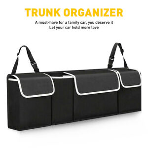Car Accessories Trunk Organizer Oxford Interior Back Seat Storage Bag 4 Pocket