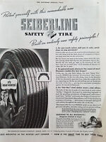 1939 Seiberling Tires Its Heat Vented Safety Tire Protect Yourself Original Ad