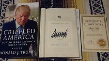 Signed Donald Trump Book Crippled America How To Make Great Again 1/1 HC COA