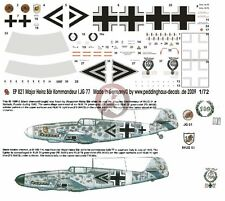 Peddinghaus 1/72 Bf 109 F-4 and A-7/R3 Markings Heinz  Bär WWII (2 choices) 821