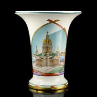 Vase Neva coasts, Lomonosov Porcelain, Saint-Petersburg, IFZ, Russia