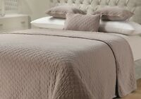 Quilted Throw 100% Cotton Sofa Bed Throw Over Blanket Stitched Stone Wash