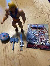 Masters of the Universe Action Figure MOTU He-man & Mini Comic Book