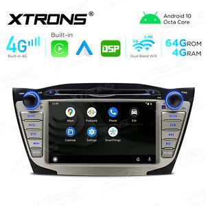 "7"" Android 10 4+64G Car GPS DVD Radio 2 DIN CarAutoPlay for Hyundai ix35 Tucson"