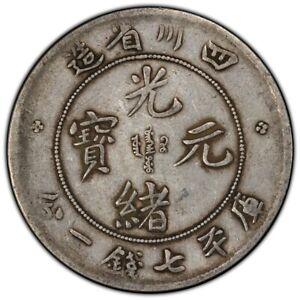 "1901-08 China Szechuan Silver Dragon Dollar WF ""A"" PCGS VF 30"