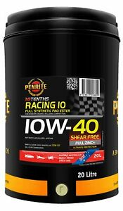 Penrite 10 Tenths Racing 10W-40 Engine Oil 20L fits MG ZT 180 2.5