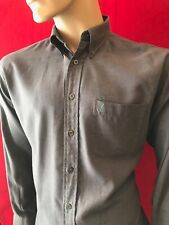 "YVES SAINT LAURENT Men's Long Sleeve Soft Cotton Logo Shirt Collar 15"" Chest 44"""