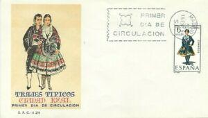 FDC Primo Giorno Spagna 1968 Abiti Tipici Città Reale