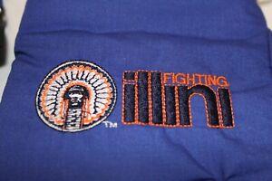 Vintage Chief Illiniwek Wells Lamont Men's Winter Gloves M Medium Blue