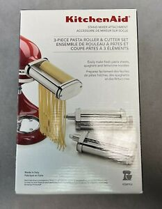 KitchenAid 3pc Pasta Roller & Cutter Stand Mixer Attachment Set