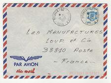 1 timbre sur lettre 1987 tampon Côte-d'Ivoire Abidjan  /L239