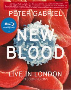 Peter Gabriel New Blood Live In London 2Blu-Ray (Eagle Vision) Nuovo e Sigillato
