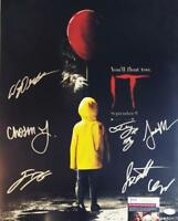 IT 7X CAST signed 16x20 Poster Finn Wolfhard Jackson Scott JSA COA 480 431