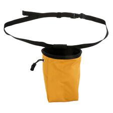 Climber Rock Climbing Caving Powder Chalk Bag & Waist Belt Yellow