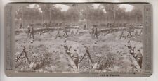 WWI BRITISH STEREOVIEW - GURKHAS DIGGING A COMMUNICATION TRENCH IN FLANDERS
