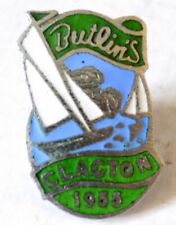 More details for butlins holiday camp badge clacton 1955, 2 yachts/green labels/5 waves.