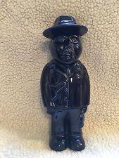 Unusual Pottery Man Jar with a Case, Violin Case, Hat, Moustache Fag Mafia