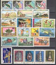 R9963 - MONGOLIA 1974 - LOTTO 23 DIFFERENTI DEL PERIODO - VEDI FOTO