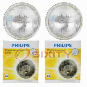 2 pc Philips High Beam Headlight Bulbs for Ford 300 Capri Country Sedan kq