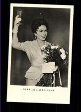 Gina Lollobrigida VEB Verlag Postkarte ## BC 56685