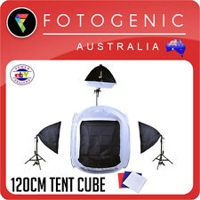 Light Tent Cube 120 x 120cm Boom Set with Softboxes - Product Photography