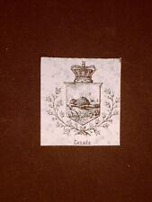 Stemma o blasone del Canada Anno 1865 Araldica
