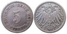 J 12   5 Pfennig KAISERREICH 1901 G in SS  502917