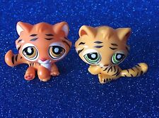 Littlest Pet Shop LPS Orange Bengal Tiger Cat Cub Lot  #905 & #1267