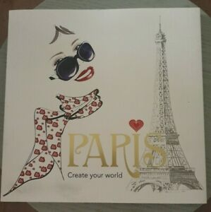 Paris Crwate Your World Colouring Book VGC Free Postage