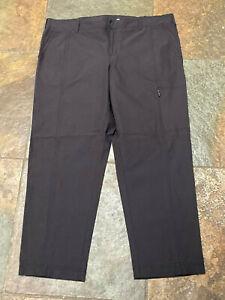 0621 KIRKLAND 10 x 27 Black Nylon Trail Hiking Pants 5 Pockets 5 Pockets EUC