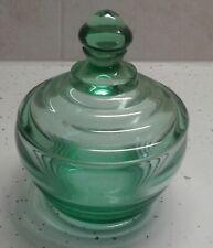 Vintage Green Trinket Box With Rings
